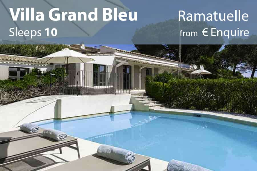 Villa grand bleu st saint tropez villas